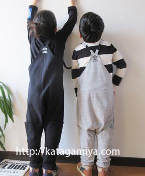 ハンドメイド子供服*サルエルサロペット型紙5