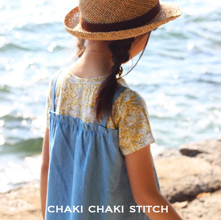 布帛ニット使いゴムギャザー長袖・半袖Tシャツ ハンドメイド子供服型紙