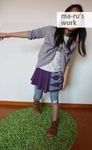 女の子プルオーバー&ワンピ型紙・学校・幼稚園・保育園で使えるトレーナー型紙
