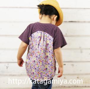 ハギレの消費もできる子供服型紙・作り方簡単なドルマンプルオーバー型紙