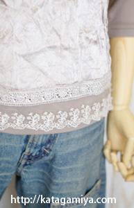 重ね着できる授乳長袖カットソー型紙と作り方