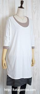 授乳に便利な長袖と半袖カットソー型紙と作り方