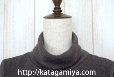 授乳服型紙の衿デザイン