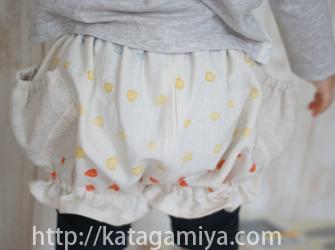 子供服ギャザーショートズボン型紙