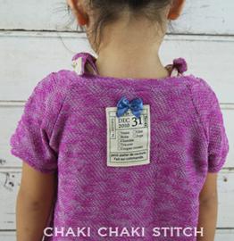 小学生の子供向け向けハンドメイド型紙のリブ付き半袖と半袖型紙と作り方