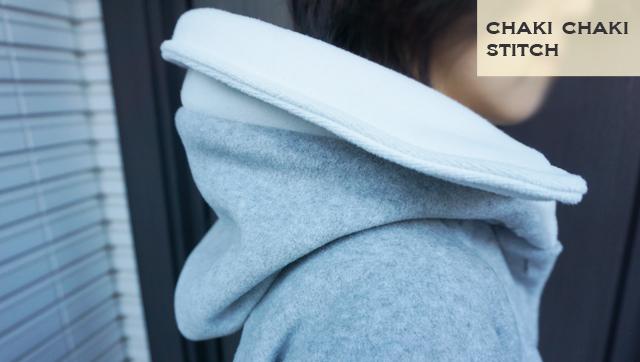 レディースコート型紙衿フード