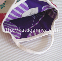 リバーシブルな上履き入れ型紙(入園・入学アイテム)