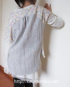 布帛使いのカットソー型紙の長袖と作り方