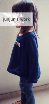 子供服よそ行き長袖型紙・カーデプルオーバー