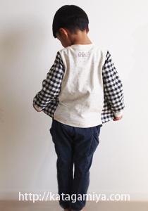 ハンドメイド子供服型紙の布帛ニット切り替え