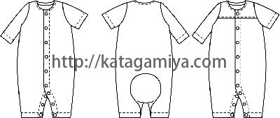 コンビ肌着の絵型