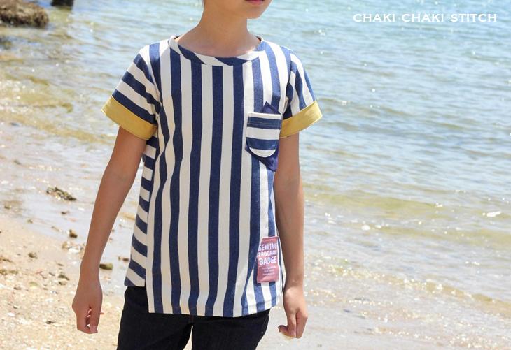 子供ねじれTシャツ型紙販売・半袖140