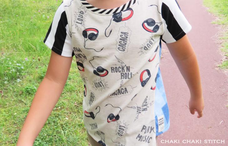 子供ねじれTシャツ型紙販売・半袖110サイズ