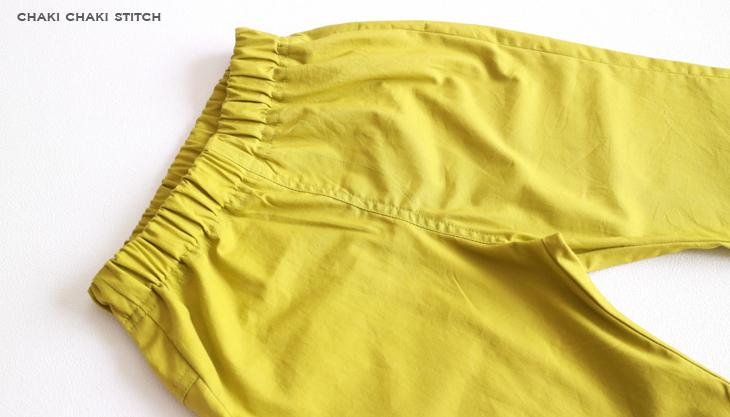 子供服パンツ型紙ひざ上・ひざ下を前ポケット無しの作り方