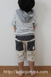 子供服普段着型紙ひざ上・ひざ下ズボン型紙と作り方