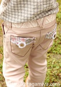 スタイルよく見える子供服サルエルパンツ型紙