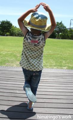 子供服ノースリ型紙・作り方簡単なわきマチタンク型紙